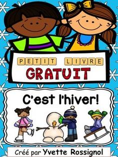 Take EVERY opportunity to teach/practice sight words and basic sentence structures with young students, especially in a second language classroom! I am passionate about this, as is obvious in all my resources :)Petit livre  structures rptes sur le thme des activits d'hiver.