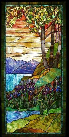 Century Studios | Iris Sunset | Stained Glass Window | 1997