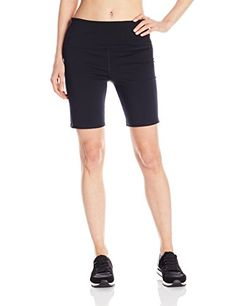 Calvin Klein Performance Womens Compression Bike Short Black Large -- Read more reviews of the product by visiting the link on the image.(This is an Amazon affiliate link and I receive a commission for the sales) #LadiesActivewear