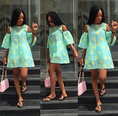 Ankara Short Dress Styles are now in Vogue for African Women - WearitAfrica African Fashion Ankara, African Fashion Designers, African Print Dresses, African Print Fashion, Africa Fashion, African Dress, African Attire, African Wear, African Women