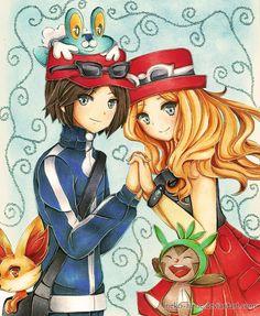 Serena and Calem Calem Pokemon, Pokemon Kalos, Pokemon Ships, Pokemon Funny, Fnaf, Pokemon Couples, Right In The Childhood, Pokemon Special, Wattpad