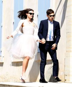 """30 Celebrity Brides Who Said """"Nah"""" to Long White Dresses Not all celebrity brides wore a classic white wedding dress! Here are celebrity brides who dared to try something different for their wedding style. Keira Knightley wore this dress to marry James Righton in 2013. No better poster girl for re-wearing whatever you want and not GAF."""