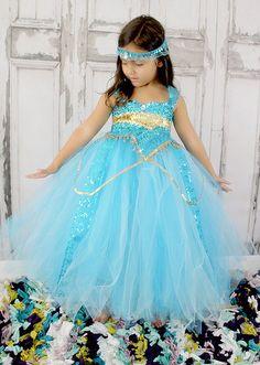 Princess Jasmine Dress Princess jasmine costume by GlitterMeBaby, $75.00