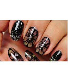 Nail Art Designs Gallery Best Of Nail Art Black Nail Design Black Flowers Nail Art Designs Cute Nail Art, Nail Art Diy, Easy Nail Art, Diy Nails, Cute Nails, Nail Art Design Gallery, New Nail Art Design, Nails Design, Black Nail Designs