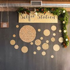 Selfie Stations Get wedding guests into the action with a decorated selfie station. In 2015, brides are encouraging partygoers to snap a few photos and have a little fun.: