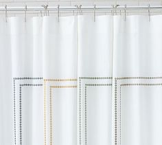 Pearl Embroidered Shower Curtain