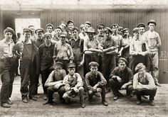"""EARLY LABOR: August """"Noon hour in an Indianapolis tomato cannery. Young fellows in front of boxcar."""" Photograph by Lewis Wickes Hine. Old Pictures, Old Photos, Vintage Photographs, Vintage Photos, Shorpy Historical Photos, Early Labor, Victorian Street, Working With Children, High Resolution Photos"""