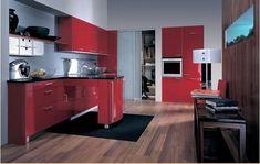 Кухня красная, в интерьере, дизайн, отделка, ремонт, красный кухонный гарнитур, примеры фото, видео   Все о дизайне и ремонте дома