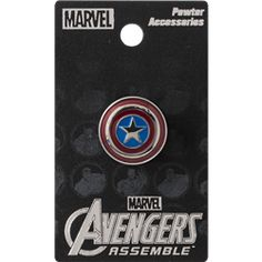 Colored Captain America Shield Lapel Pin - MG-68249 from Superheroes Direct