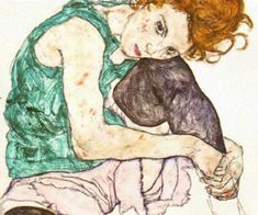 Egon Schiele broke me out of my French Impressionist shell and thank heavens he did. His work is amazing.