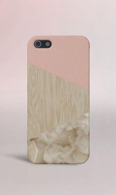 Pink x Marble x Wood Case for iPhone 5 iPhone 5S