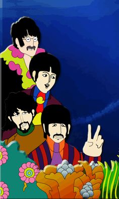 The Beatles - By Peter Max Yellow Submarine
