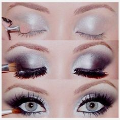 Perfect eye make up for prom, homecoming, graduation, weddings...add pink