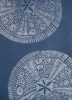 thestylishgypsy:  Sea Urchin Mandalas by Nancy Desmond Brown