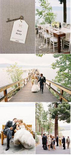 Ceremony: Chinquapin Dock at North Lake Tahoe in Tahoe City, California / Reception: Dollar House at Chinquapin