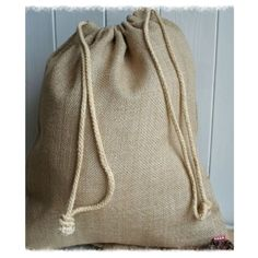 These quality hessian jute sacks feature a rope drawstring closure and are perfect for Xmas packaging of special gifts Santa sacks general storage