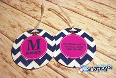 Personalized Luggage Tag  Monogrammed Luggage by SnappysBoutique, $10.00