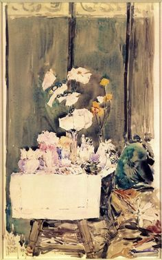 A Favorite Corner by Frederick Childe Hassam #art