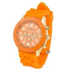 Unisex Geneva Silicone Jelly Gel Quartz Analog Sports Wrist Watch/ U.S SELLER!