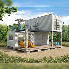 Modulhome | Casas modulares | Montaje en 48 horas Building A Container Home, Container Buildings, Container Architecture, Architecture Design, Tiny House Cabin, Tiny House Design, Container Conversions, Shipping Container Home Designs, Bar Design