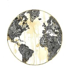 """""""Flush the World Away"""" by Miles Pasick, Ink and Gold Leaf"""