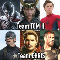 TOM HOLLAND TOM HIDDLESTON CHRIS PRATT !!!! WHY YOU BE SOOOOO CRUEL?!?!?!