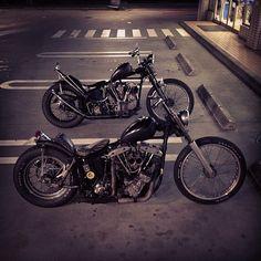 Knucklehead and Shovelhead,awesome Bikes...