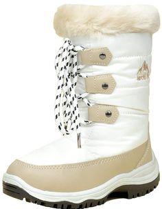 Kids Girls Beige Patent Childrens Diamante Bow Calf Length Smart Winter Boots