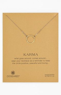 Dogeared 'Reminder - Karma' Pendant Necklace available at #Nordstrom