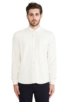 Our Legacy Classic Shirt in White Raw Silk