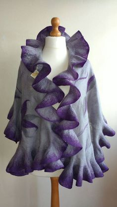 Check out this item in my Etsy shop https://www.etsy.com/uk/listing/496531235/ruffled-nuno-felt-wrap-shawl-felted-wool
