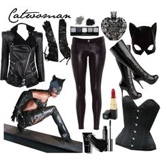 Catwoman by ladyvampire on Polyvore featuring polyvore, fashion, style, Balmain, Siwy, Bullet, Michael Antonio, Chanel, Forever 21 and Bobbi Brown Cosmetics