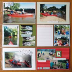 Canoe trip - pocket page 40 Canoe Trip, Happy Mail, Layout, Baseball Cards, Pocket, Merry Mail, Page Layout, Kayaking, Bag