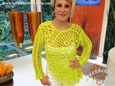 blusa de crochê Ana Maria Braga