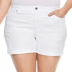 3c609ae185 Plus Size Jennifer Lopez Rockin Cuffed Boyfriend Shorts. Jeans For Short  WomenBoyfriend ...