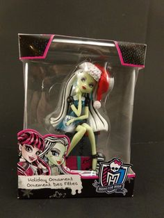 Monster High Frankie Stein with Santa Hat Holiday Christmas Ornament 2015 #Mattel