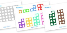 Twinkl Resources >> Counting Number Shapes  >> Thousands of printable primary teaching resources for EYFS, KS1, KS2 and beyond! counting, numbers, count, shapes, counting template, number shapes, numeracy, activity, counting activity, counting,