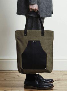 Topman Brown Canvas Tote Bag