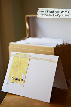 cute easy sewn notecards