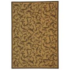 Safavieh Indoor/ Outdoor Mayaguana Natural/ Brown Rug (9' x 12')