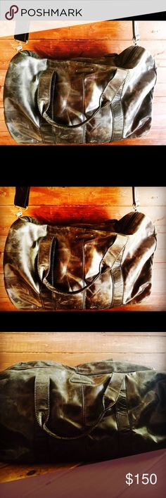 Fossil Duffle Rustic weathered Fossil brand duffle. Perfect for travel. Classic style with an edge. Mint condition. Retails $300 Fossil Bags Luggage & Travel Bags