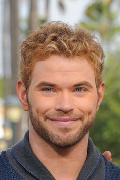 Kellan Lutz at 'Extra' in LA. Grooming by Kindra Mann.