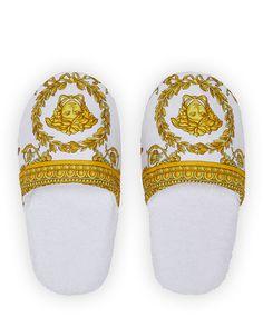 b4d66af6f917 VERSACE MEN S BAROCCO-PRINT MULE SLIPPERS.  versace  shoes
