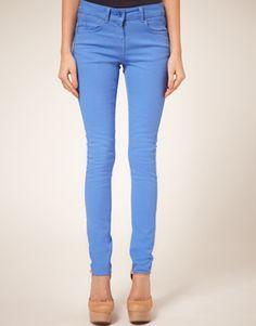 Cornflower Blue Candy Skinny Jeans
