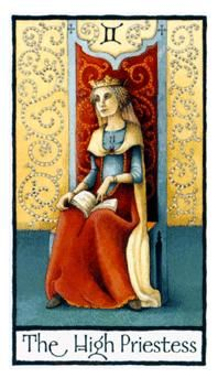 June 11 Tarot Card: The High Priestess (Old English deck) Listen to your inner voice: there is something to be learned now