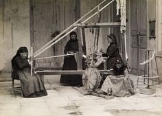 """etsy: """" National Geographic Picture Archive: Women Weaving, Cyprus, circa 1920. """""""