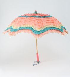 1940's Children's Pastel Paper Parasol by fallaloft on Etsy, $95.00