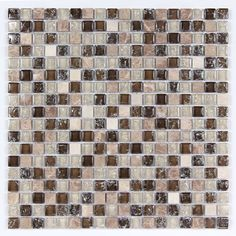 All Marble Mosaic Glass and Stone Mix 5/8 x 5/8 Glass Mosaic Tile Mag 4420 SQ from http://AllMarbleTiles.com
