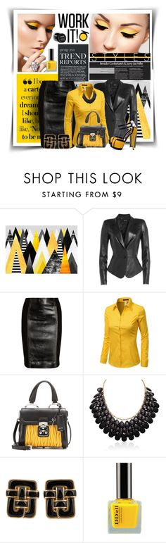"""Work It!"" by diva1023 ❤ liked on Polyvore featuring Jitrois, Versace, Doublju, Miu Miu, Adoriana, Angela Cummings and MAC Cosmetics"