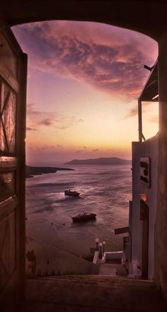Door with a view, Fira, Santorini